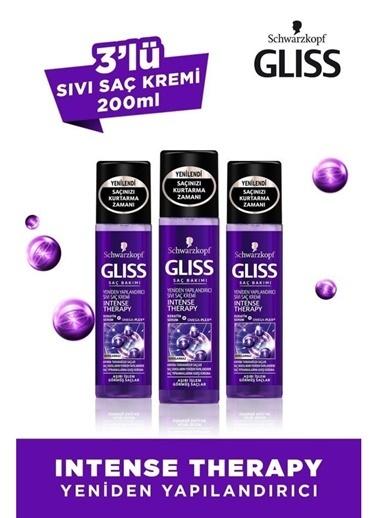 Gliss Gliss Intense Therapy Yeniden Yapılandırıcı Durulanmayan Sıvı Saç Kremi 200 Ml 3'Lü Renksiz